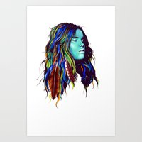 dreamer Art Prints featuring Dreamer by Peter Fulop