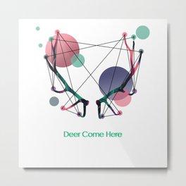 Deer Come Here Metal Print