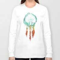 earth Long Sleeve T-shirts featuring Dream Catcher (the rustic magic) by Picomodi