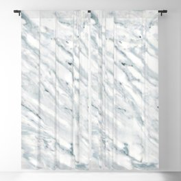Real Marble Pattern - Swirly White and Gray Marble Blackout Curtain