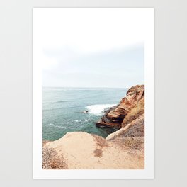 Cliffside Stairs Art Print