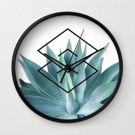 Agave geometrics IV Wall Clock