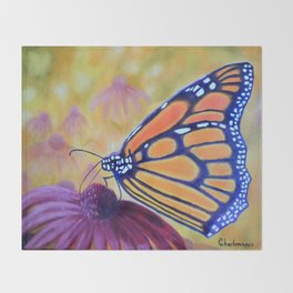 King of butterfly | Le roi des papillons Throw Blanket