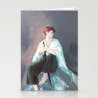 viria Stationery Cards featuring Noragami AU Oikawa by viria