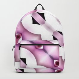 Horizontal Chains Pink Backpack
