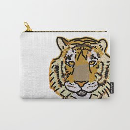 Tiger Portrait Digital Painting Carry-All Pouch