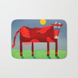 Udderly Confused - Funny Cow Art Bath Mat