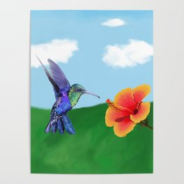 The very hungry hummingbird Poster