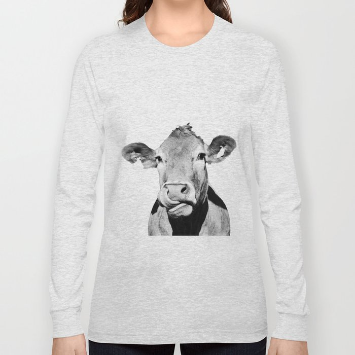 Cow photo - black and white Long Sleeve T-shirt