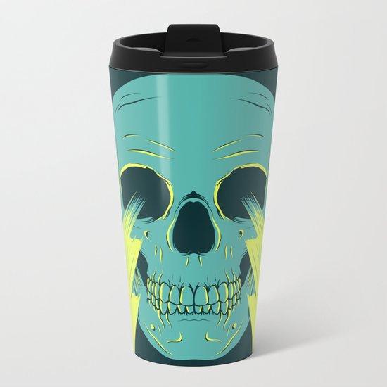 Lightning Skull Metal Travel Mug