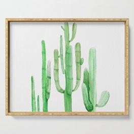 Three Amigos Cacti Green Serving Tray