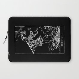 0. The Fool- White Line Tarot Laptop Sleeve