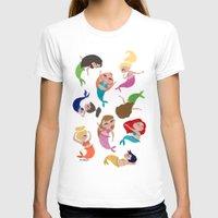 mermaids T-shirts featuring Baby Mermaids by Jeca Martinez
