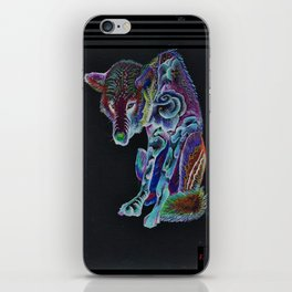 Wolf Illumination iPhone Skin