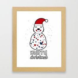 merry christmas vector illustration Framed Art Print