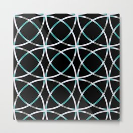 Intersecting Rings Fractal in TPGY Metal Print