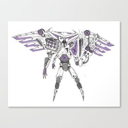 Owl Robot Canvas Print