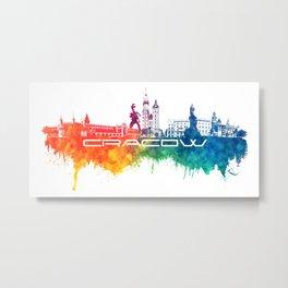 Cracow skyline city color #krakow #skyline Metal Print