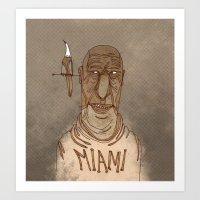 miami Art Prints featuring Miami by Pedro Hamdan