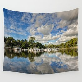 Harbor Reflections Wall Tapestry