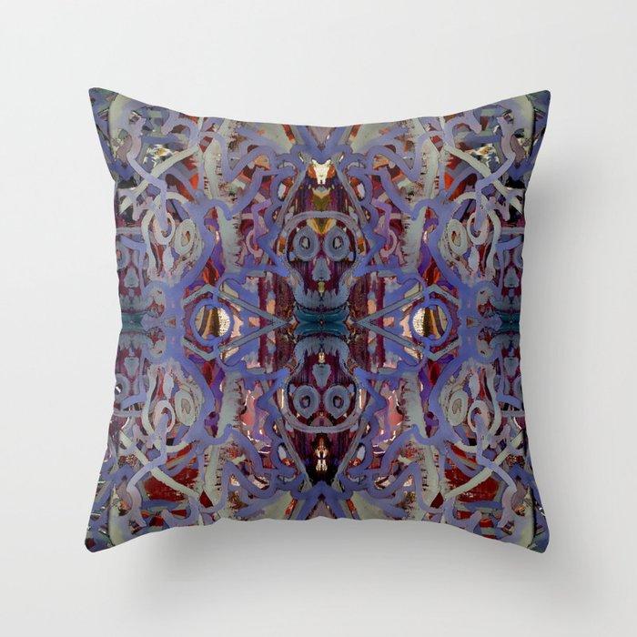Skulls Purple Rouge Throw Pillow
