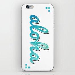 Aloha Clear Blue iPhone Skin
