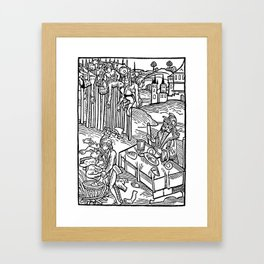 Vlad the Impaler and his victims Framed Art Print