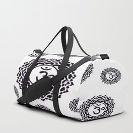 "BLACK SANSKRIT CHAKRAS  PSYCHIC WHEEL ""KNOW"" Duffle Bag"