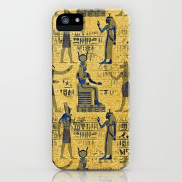 Vintage Egyptian Ornament with Lapiz Lazuli iPhone Case