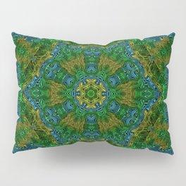 Yellow Green and Blue Kaleidoscope Pillow Sham