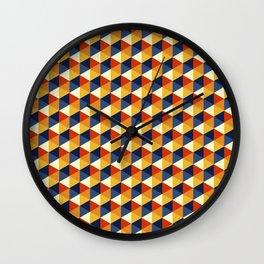 Siux hexagons Wall Clock