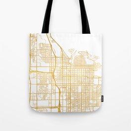 SALT LAKE CITY UTAH CITY STREET MAP ART Tote Bag