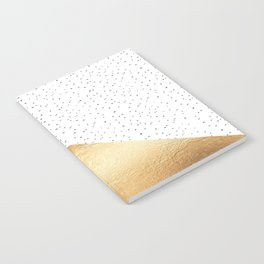 Gold and Polka Dots Notebook