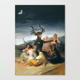 THE SABBATH OF THE WITCHES - GOYA Canvas Print