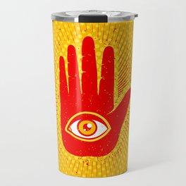 Hand and eye Travel Mug