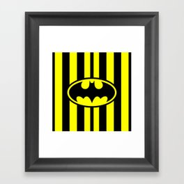 Bat Man Classic Framed Art Print
