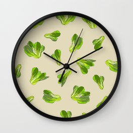 Bok Choy Vegetable Wall Clock