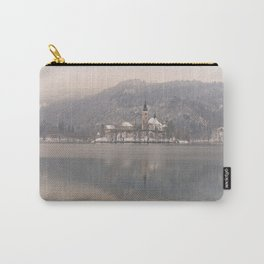 Bled Island On A Wintry Day Carry-All Pouch
