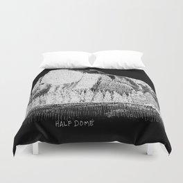 Hangin at Half Dome - White on Black Duvet Cover