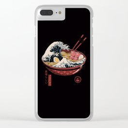Great Ramen Wave Clear iPhone Case