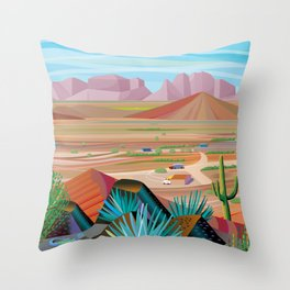 La Pimeria, West Phoenix Throw Pillow