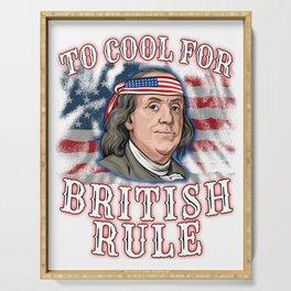 Benjamin Franklin 4th Of July  Serving Tray
