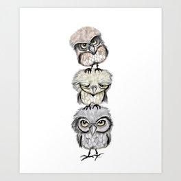 Owl Totæm Art Print