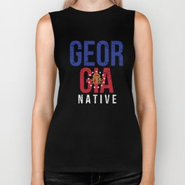 GA Georgia Native Gift for Home State Pride Residents from Atlanta, Savannah, Columbus Biker Tank