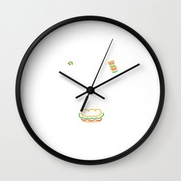 Funny All You Need To Feel Better Is Food Cooking Wall Clock