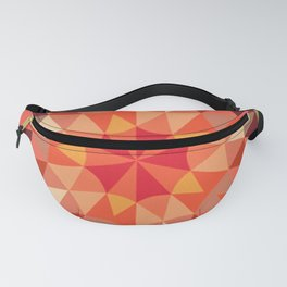 Living Coral Retro Geometry Fanny Pack