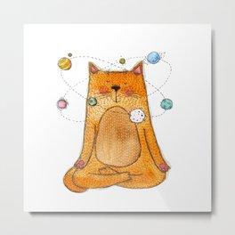 meditative cat Metal Print