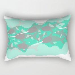 Narwhal - Winter Arctic Rectangular Pillow
