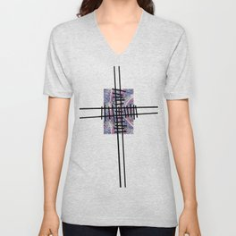 Cross Rail Unisex V-Neck