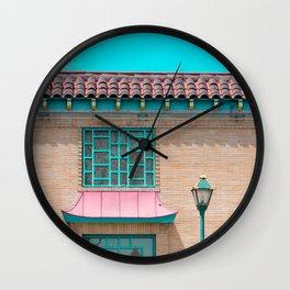Travel photography Chinatown Los Angeles III Wall Clock